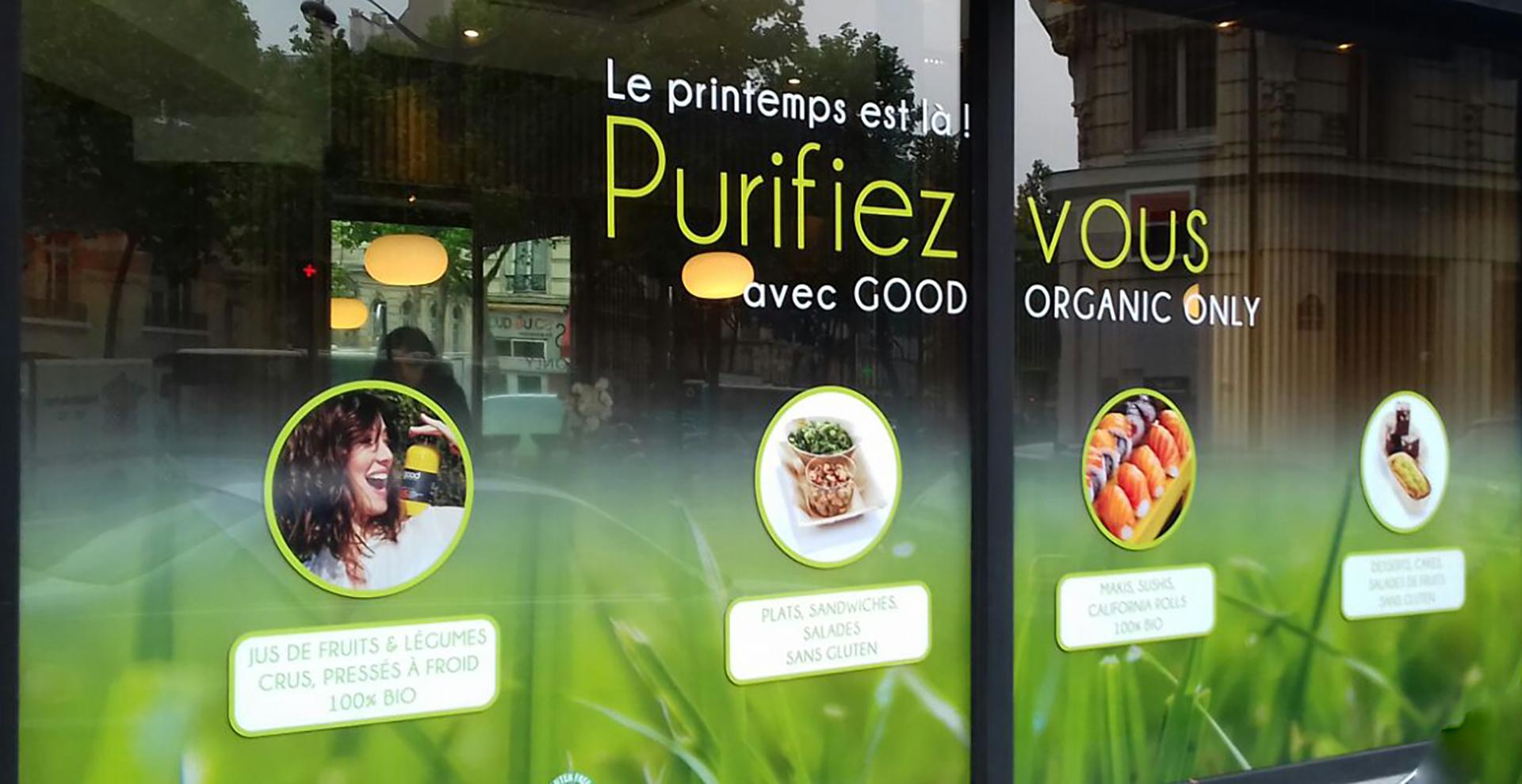 Adhesif vitrine Paris