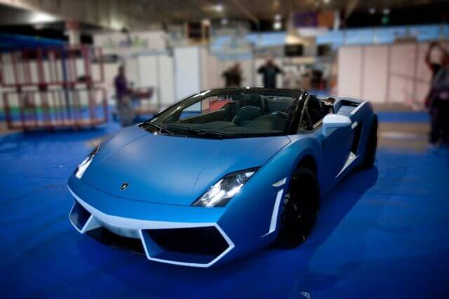 Covering sports car